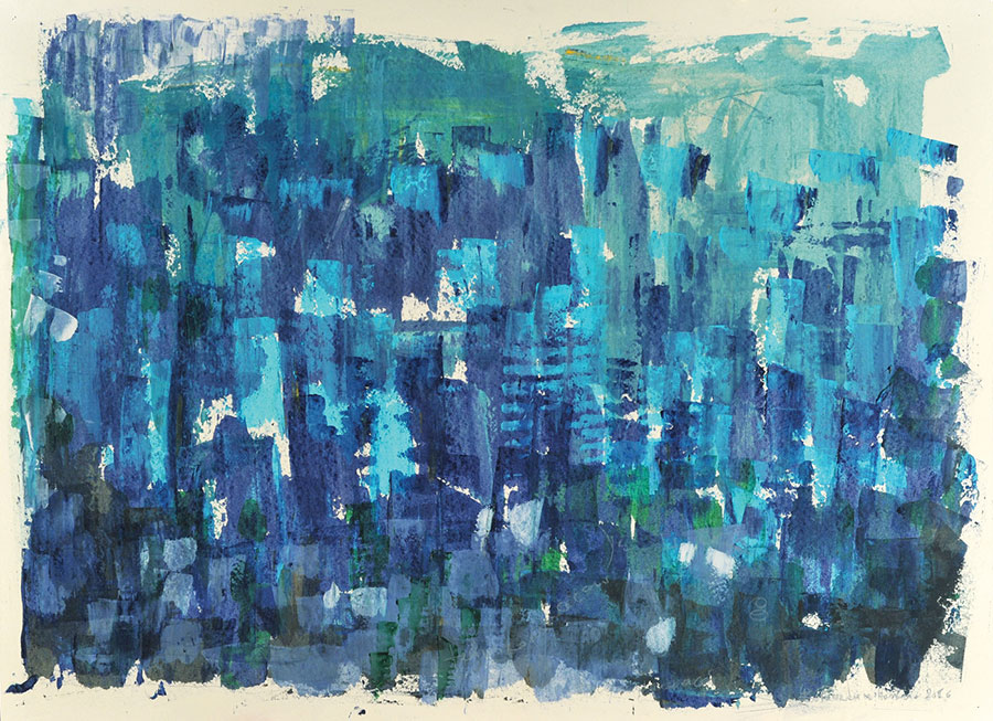 Small Steps #3 . mixed media on paper . 80 x 120 cm