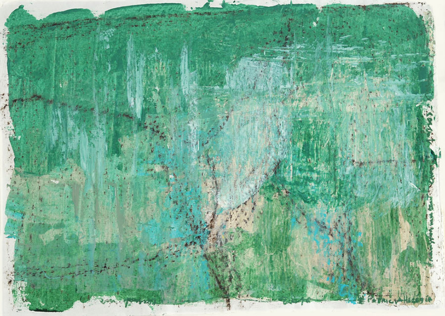 Small Steps #22 . mixed media on paper . 55 x 75 cm
