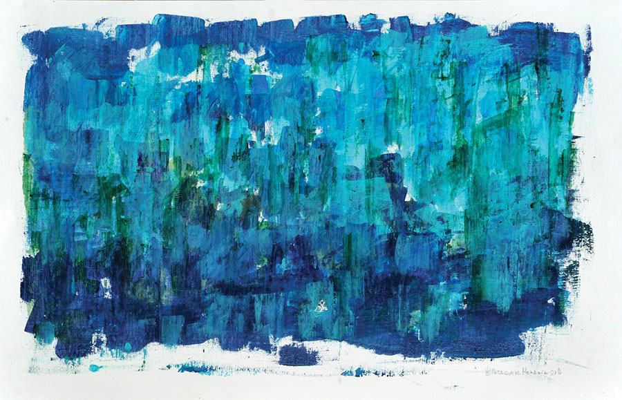 Small Steps #25 . mixed media on paper . 75 x 110 cm