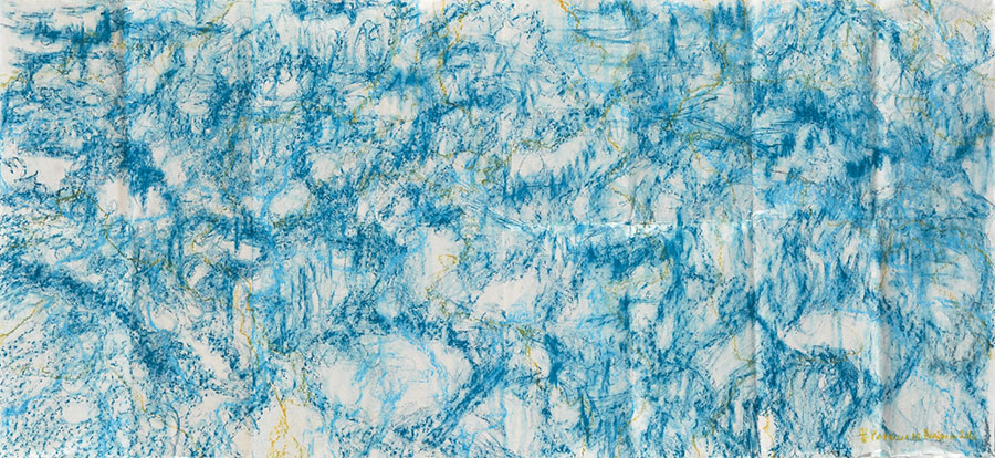 Small Steps #32 . mixed media on paper . 67 x 150 cm